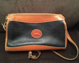 Vintage Dooney And Bourke Black Crossbody Purse