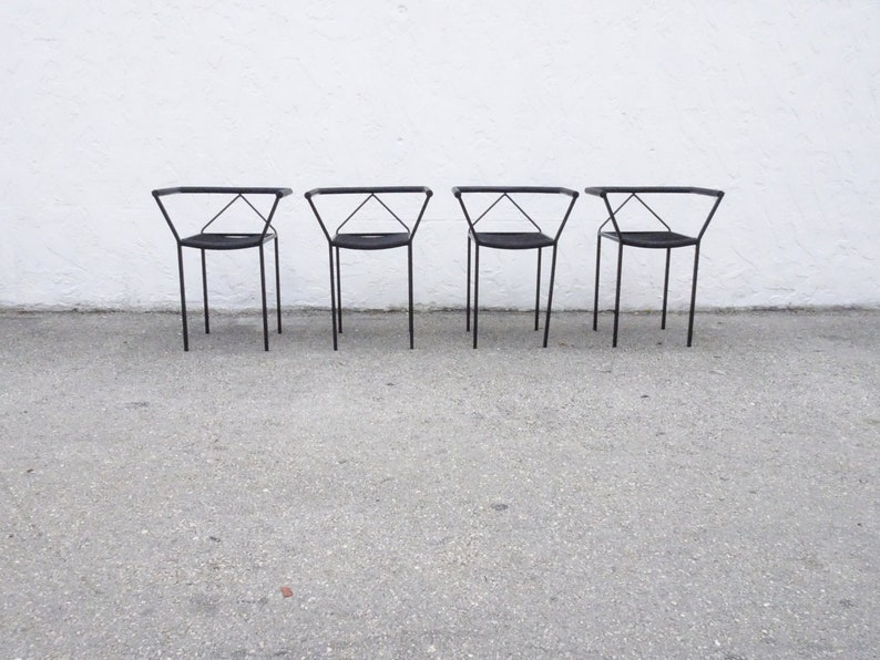 4 Poltroncina chairs by Peregalli for Zeus NOTO Italy