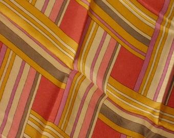 Vintage Schiaparelli geometric silk scarf
