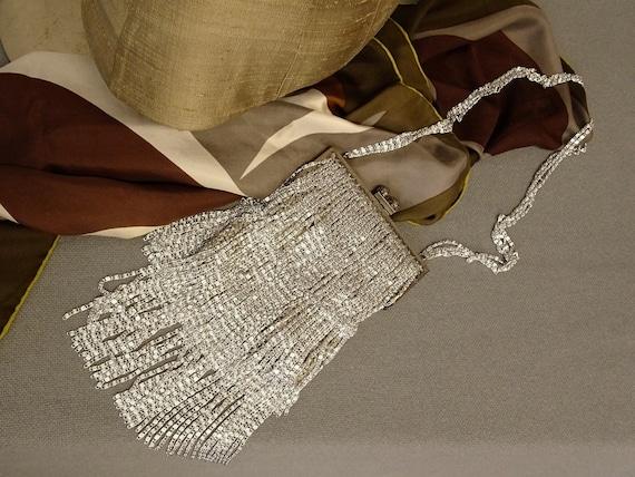 Loris Azzaro silver chain evening purse