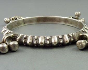 traditional jewelry Vintage silver hinged bracelet from Rajasthan India Tribalgallery
