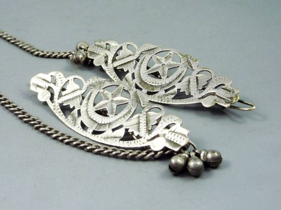 Old Rajasthan pair of hairpins from the Bhil tribe