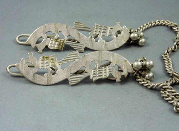 Old Rajasthan pair of hairpins from the Bhil trib… - image 2
