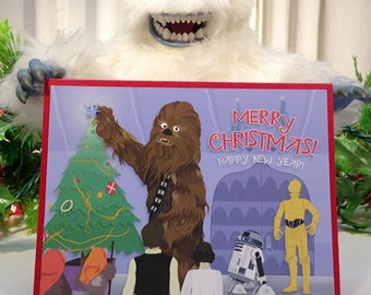Christmas Card -- Star Wars & Rudolph Mashup