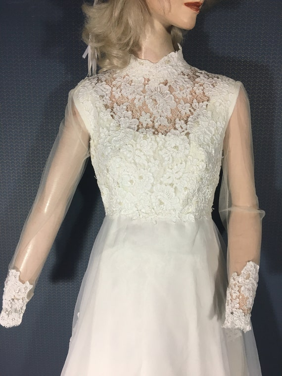 "Wedding Bridal Gown Vintage 1970s ""a Treasured Hei"