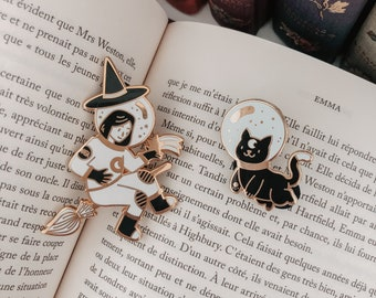 Set of Astrowitch and Cosmocat enamel pins