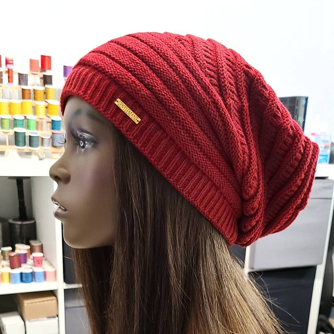 12 inch Satin lined Jersey knit beanies