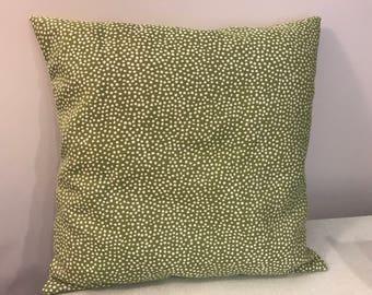Green Polka Dot Pillow