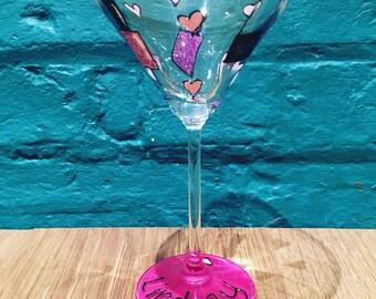 Glittery Personalised Martini Glass
