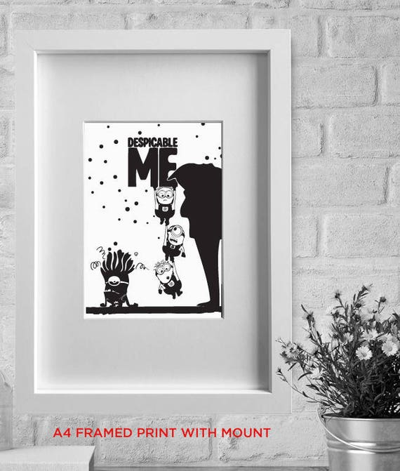 framed print DESPICABLE ME Minions minimalist film   Etsy