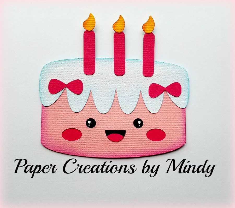 Elite4u Mindy Kawaii Birthday Cake Title Premade Paper Piecing Etsy