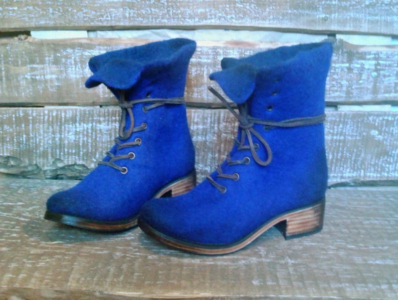 good outlet hot-selling newest Felted ankle boots Marcella Ultramarine