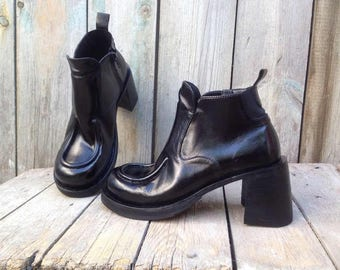 Handmade leather ankle boots ART