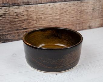 Stoneware Pet Bowl - Brown Dog Bowl - Water Bowl - Food Bowl