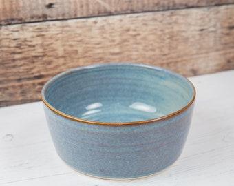 Stoneware Pet Bowl - Denim Blue Dog Bowl - Water Bowl - Food Bowl