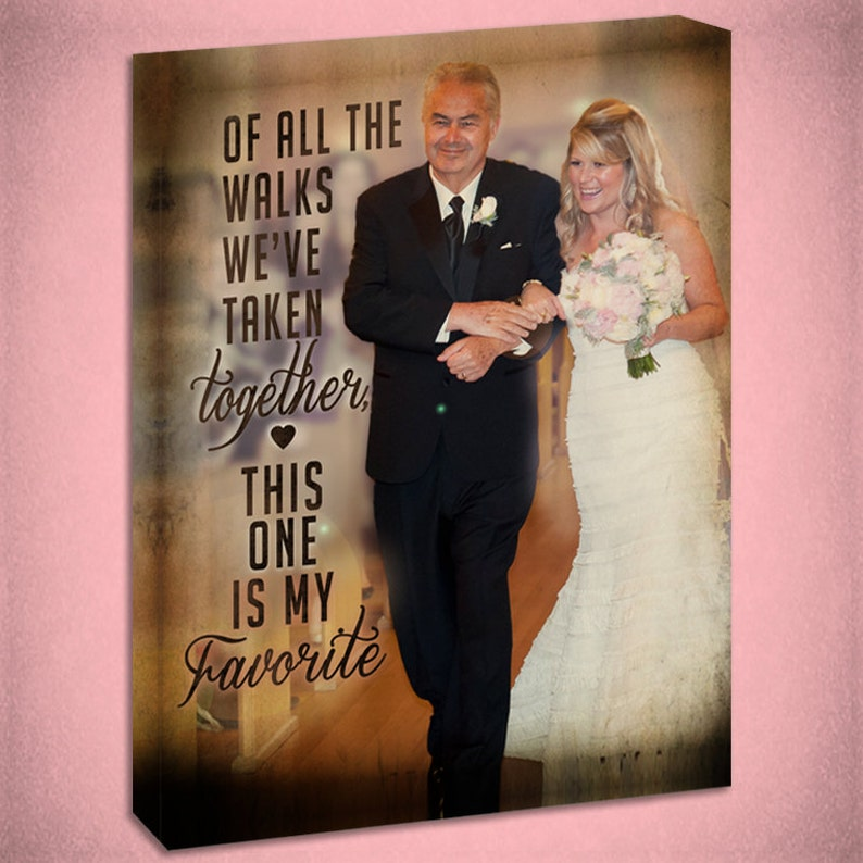 Father of the Bride Personalized Canvas Wall Art image 0