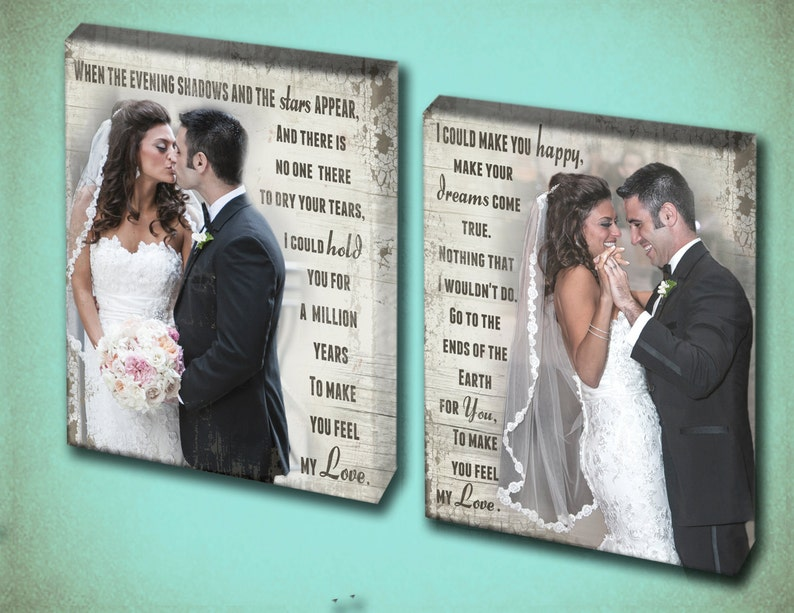 First Dance Song Lyrics Double Canvas Wall Art image 0