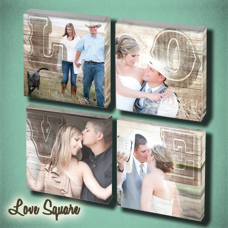 Wedding Love Wall Art set of 4 image 0