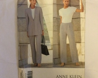 Vogue 2389 Sewing Pattern by Anne Klein Misses' Misses' Petite Lined Jacket and Lined Pants 12 14 16 factory folded