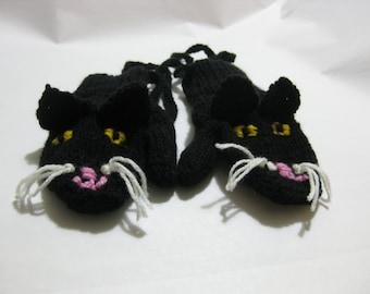 Kitten Mittens for 2-3 year old, fun toddler mittens, kids animal mittens