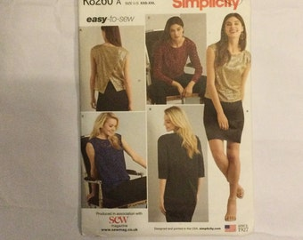 Simplicity 8260 Easy to Sew Sewing Pattern Misses' Tops in Two Lengths xxs-xxl factory folded 29.5-48 in bust