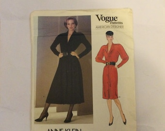 Vogue 1228 American Designer Sewing Pattern by Anne Klein Misses Dress size 14 factory folded