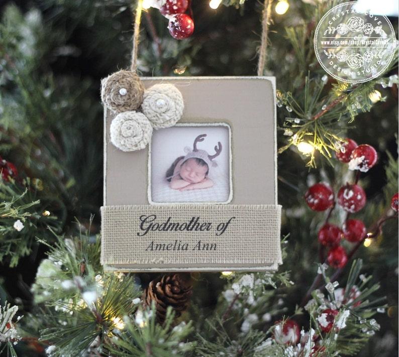 Godparent Godmother Godfather Christmas GIFT Ornament image 1