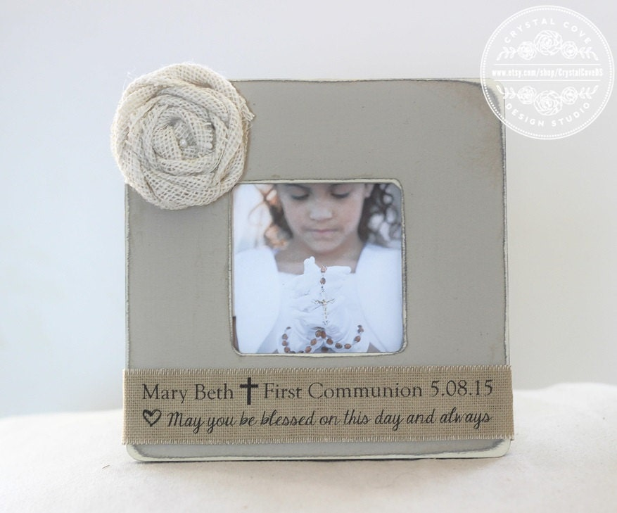 First Holy Communion Gift Personalized Picture Frame Gift for | Etsy
