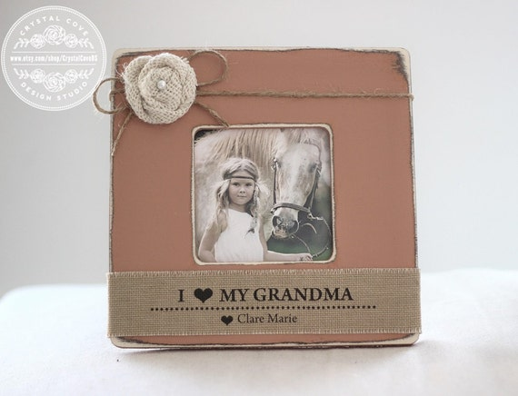 Grandma Gift Personalized Picture Frame I Love Grandma From Etsy