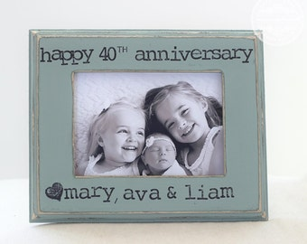 Wedding Anniversary Gift 20 year 30 year 40 year Wedding Anniversary Personalized Picture Frame 5x7