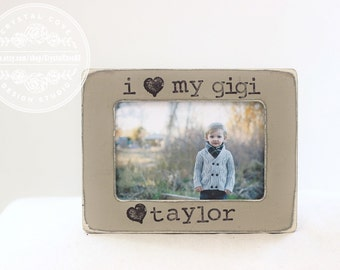 Grandma Gift Picture Frames. Gift for Grandma Gigi Grandmother Personalized Frame Yaya Nanny Nana