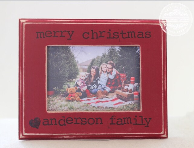 Christmas Gift Family Picture Frame Personalized With Family Etsy