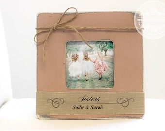 Sisters Personalized Picture Frame GIFT to Baby Girl New Baby Birth New BIG SISTER Gift