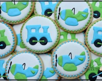 Plane and Train Transportation Cookies (quantity: 12)