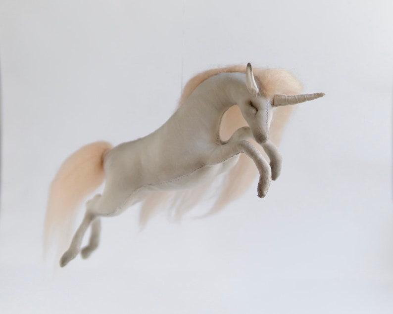 blush pink unicorn mobile  unicorn nursery decor  unicorn image 0