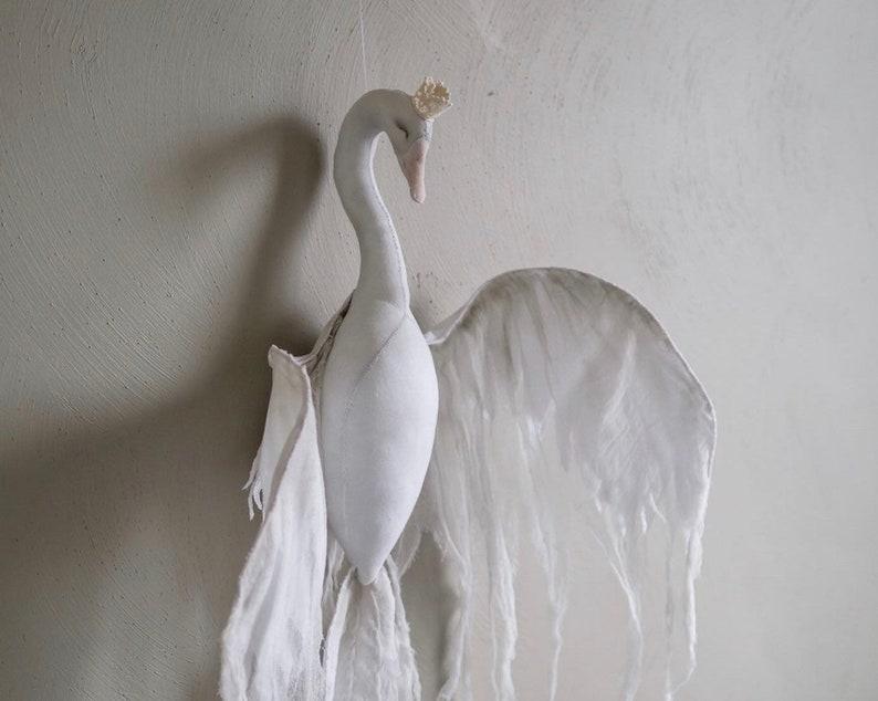 swan wall mount  swan faux taxidermy  nursery decor  swan image 0