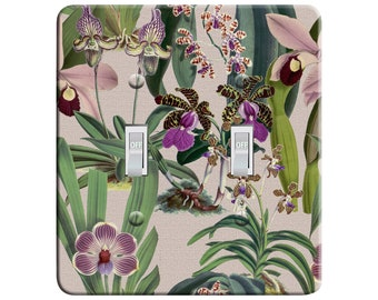 Lavender Flowers Purple Grey Floral Home Decor Metal Light Switch Plate Cover