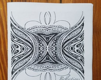 Mini Coloring Book: Reflections