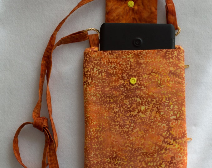 Hand Sewn Batik Bag Crossbody Credit Card iPad Mini Boho