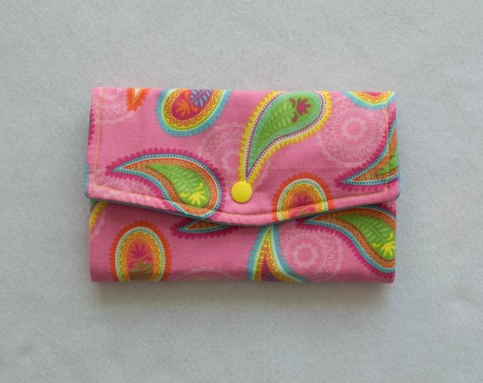 Hand Sewn Wallet Pink Credit Card