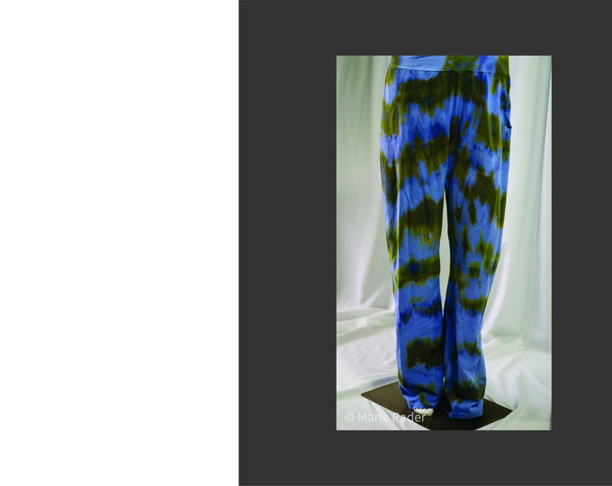 Hand  Dyed, Ice Dyed Yoga Pants 2XL