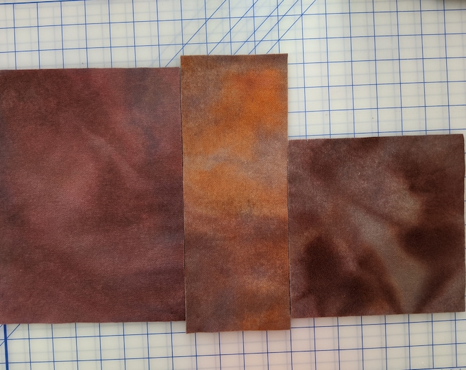 Hand Dyed Felted Wool Fabric for Quilting, Rug Hooking, Crafting, Applique, Subtle Browns, Soft Orange and Mauve
