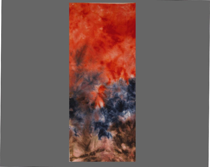 Hand Painted Wool Ombre for Rug Hookers, Quilters, Applique, Red Black and Brown Painted Wool Flannel