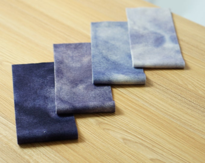 Hand Dyed Felted Wool Blue Purple Lavender Quilting Applique Rug Hooking