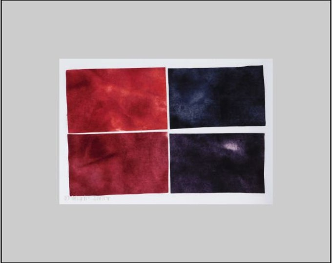Hand Dyed Felted Red Wool Fabric, Dyed Shaded Red Black Wool and Black. Primitive Quilting Wool, Hooking Wool, Applique Wool, Rug Hooking