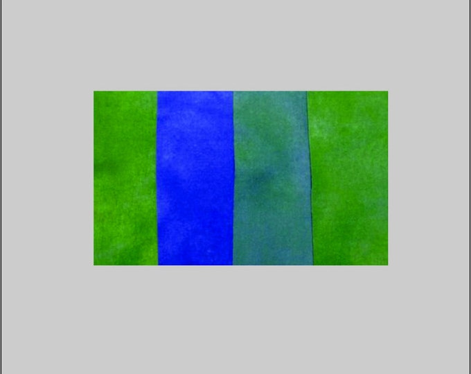 Hand Dyed Felted Wool Blue Green Rug Hooking Applique Quilting