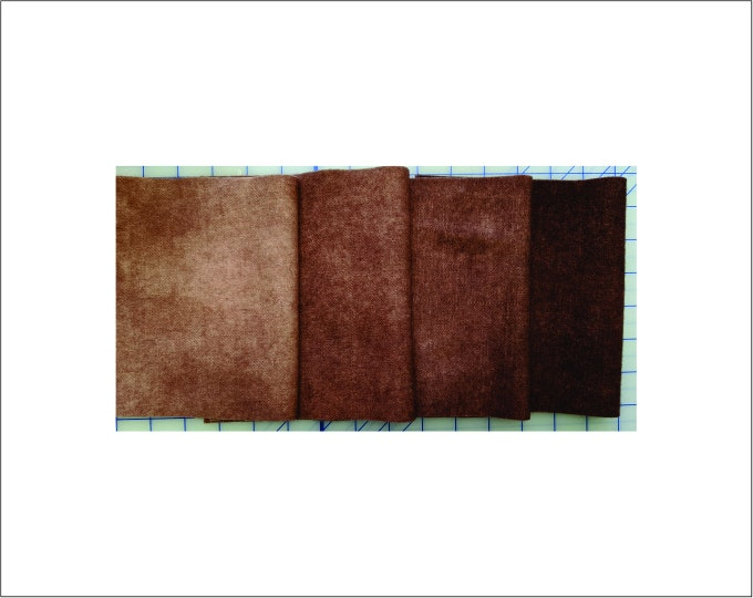 Hand Dye  Brown Tone Felted Wool Light Tan to Dark Tan