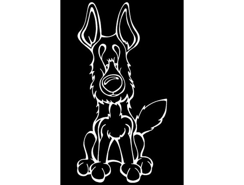 German Shepherd Decal Dog image 0
