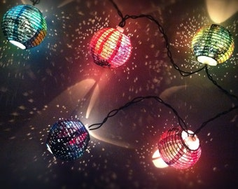 Space themed, Universe Inspired, Multi-color Galaxy Light Paper Lanterns, home decor, nursery, dorm, wedding