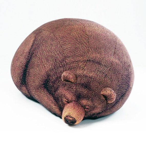 Super Large Sleeping Grizzly Bear Bean Bag Chair Knitted Fabric Design Home Decor Machost Co Dining Chair Design Ideas Machostcouk